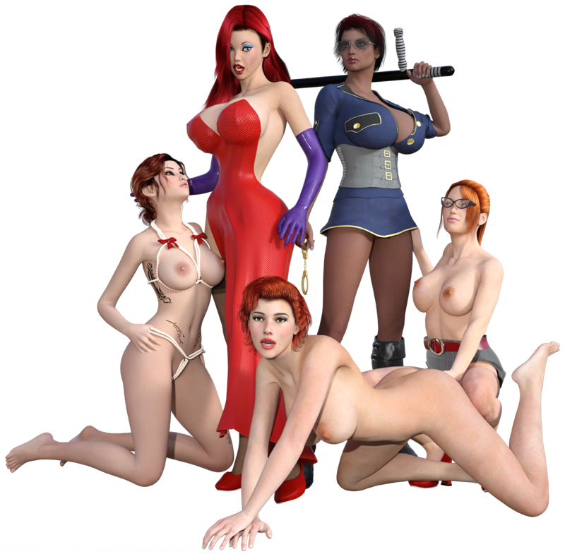 Red Head Bundle of Big Boobs